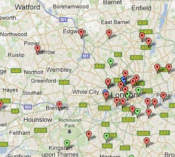 june 2012 the london heat map